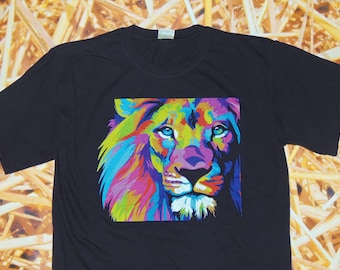 Colorful Lion Tshirt