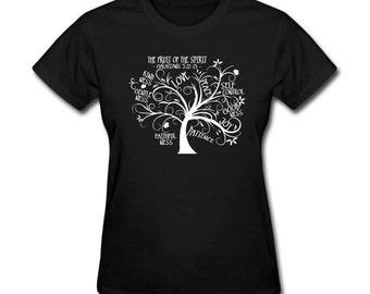 Womens T-Shirt Galatians Scripture Tree Christian Bible Verse