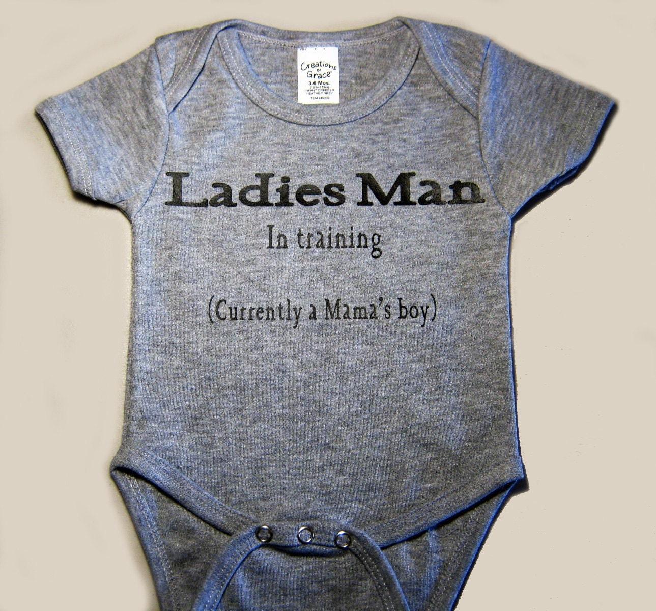 Baby Boy Bodysuit Custom Bodysuit Ladies Man In Training
