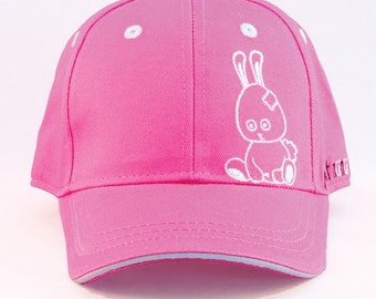 nunu_bunny - Baseball cap girl or boy / toddler or kid up to 5 years / hats with Velcro strapback available in two sizes