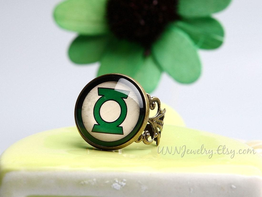 green lantern rings womens vintage super hero statement ring adjustable ring girls children novelty wedding bridesmaid - Green Lantern Wedding Ring