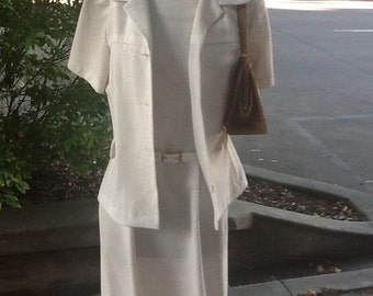 Vintage two piece dress from circa 1970's
