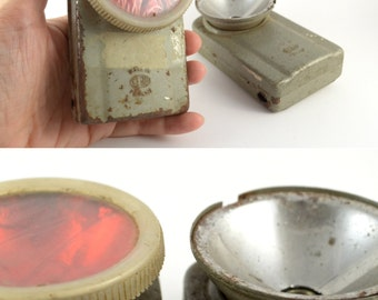how to clean old military fladshlight
