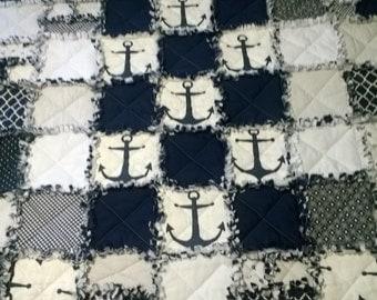 Large Anchor Quilt Blanket