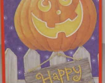 Halloween Greeting Card Happy Pumpkin Happy Halloween Pumpkin Candy Corn Orange