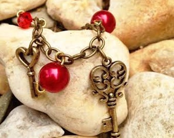 """Woodbaby Necklace - """"Key To My Heart"""""""
