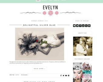 On Sale Premade blogger theme - Romantic Blogger Theme - Blog Design - Blogger template - Blog - theme, blogger theme - Instant Download