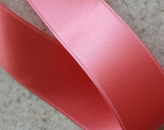 Coral Reef Double Face Satin Ribbon   4 Yards - Choose Your Width