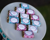 Mini Candy Wrappers - Eid Mubarak {Alexandria Collection - Magenta & Turquoise} Printable File