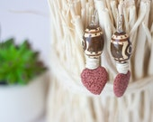 African Earrings, African Jewelry, African Lava Earrings, Terra cotta Earrings, Ethnic Earrings, Ethnic Jewelry, Eco-friendly, Wood Earrings