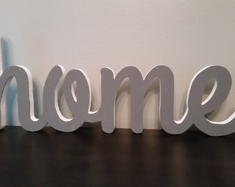 wood home sign, home decor, wood letters, home