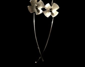 Sterling Silver Flower Earring