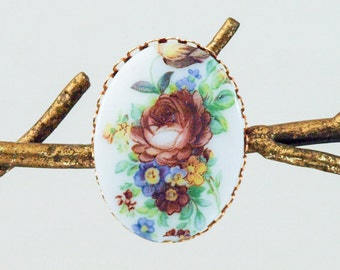 Flower Brooch Pin, Floral Brooch, Floral Pin, Flower Pin, Victorian Pin, Victorian Flower Brooch, Flower Pin, Victorian Brooch