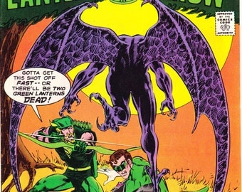 Green Lantern and Arrow 96, comic book, Gargoyle, Ring, Bronze Age, art by Mike Grell, Vintage. 1977 DC Comics in VF+ (8.5)
