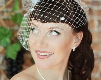 Mini Top Hat - Wedding Top Hat -Tea Party Hat - Bridal Fascinator -Blue Mini Top Hat - Bridal Head Piece -Small top Hat
