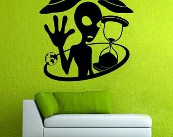 Alien Wall Vinyl Decal UFO Wall Vinyl Sticker Fantasy Decals Home Decor (7aen)