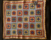 "AUTUMN Car Seat Baby Crochet Blanket 22"" x 18"""