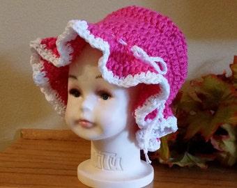 Elegant Baby Girl Sun Bonnet
