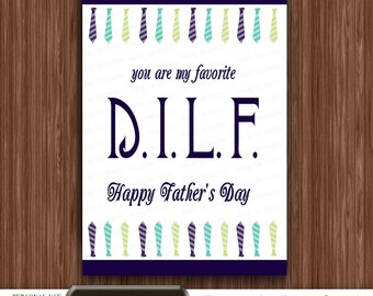 Printable Father's Day Card, Fathers Day Printable Card, Digital Fathers Day Card, Printable Cards, Dads Day Card, DILF Father's Day Card