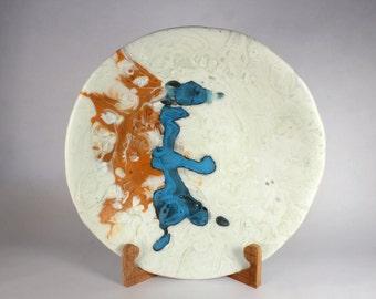Dog with Cape, kilnformed glass bowl