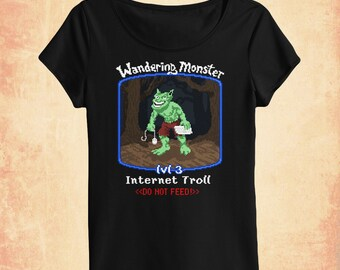 Internet Troll women's scoopneck t-shirt inspired by net culture and gaming