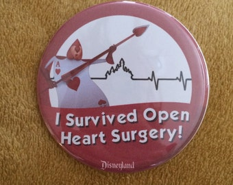 I Survived Open Heart Surgery Celebration Button