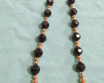 Black/Gold Beaded Necklace