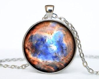 Heart nebula necklace Heart nebula pendant Galaxy jewelry Universe pendant