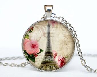 Paris necklace Paris pendant Paris jewelry vintage style