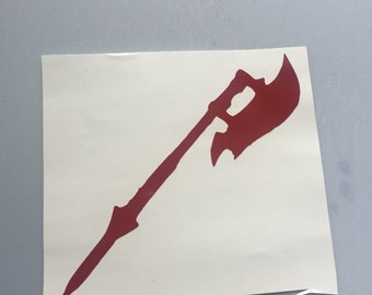 Buffy the Vampire Slayer scythe for the chosen one vinyl sticker decal