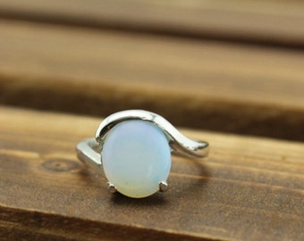Gemstone Moonstone ring fashion jewelry gift for her Christmas gifts