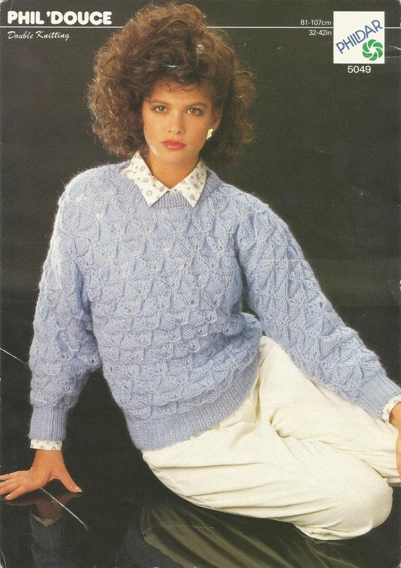 Knitting Patterns Phildar : Vintage Phil Douce Double Knitting Pattern PHILDAR 5049