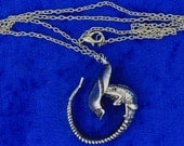 Alien Creature Necklace or Keychain / Keyring Sci-Fi Movie Inspired Chain Style Length Choice