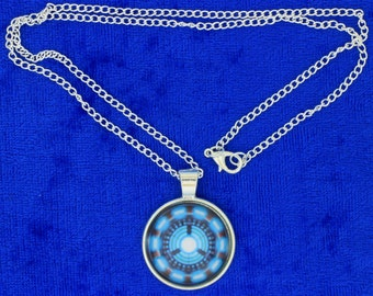 Tony Stark Arc Reactor Necklace Cabochon Style Ironman