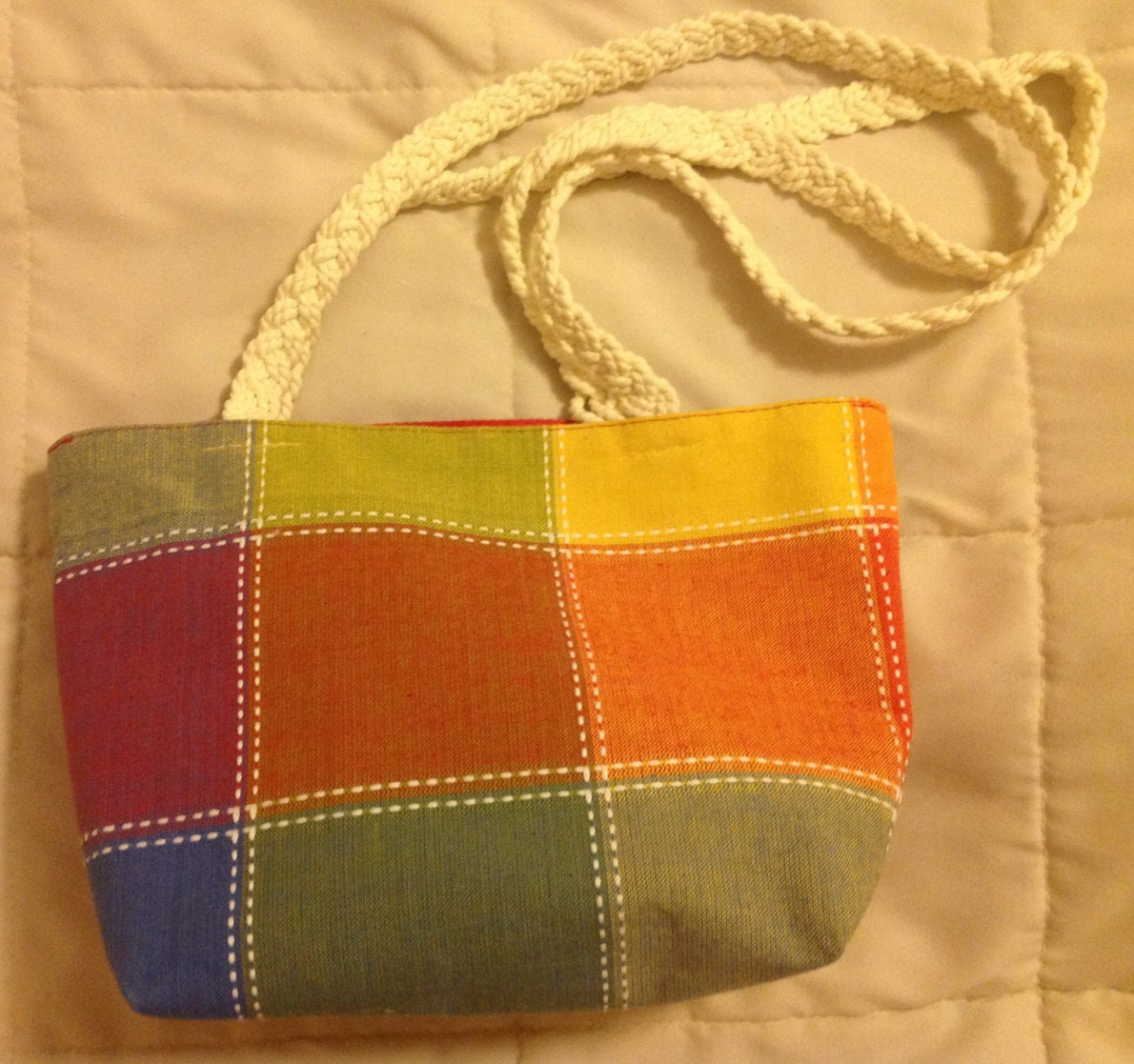 Placemat Purse : Placemat Bag/Purse by YarnThreadsAndSuch on Etsy