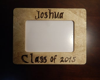 Personalized Wooden Frame - Graduate, Graduation Gift, Wood Burned