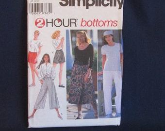 Simplicity 9513 Split Skirt, Shorts, Pants sewing pattern Uncut Size XXS, XS, S