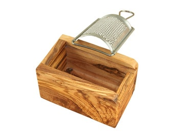 Cheese Grater olive wood metal