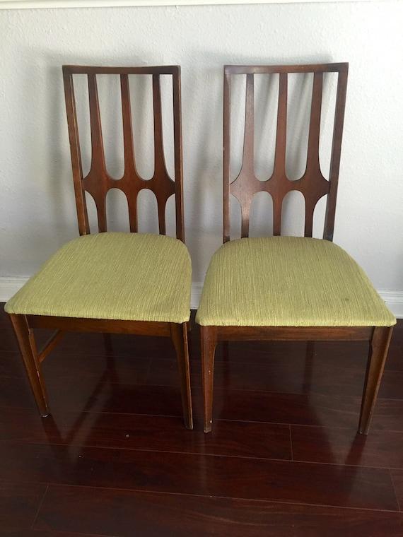 pair of vintage broyhill brasilia dining chairs