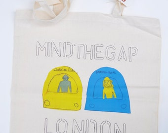 Limited Edition Tote Bag from original mixed media drawing by Amy Allen