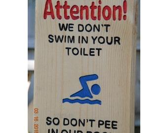 Pool Humor Wood Sign