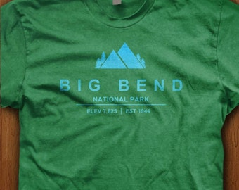 Big Bend National Park Shirt Texas America USA State Park Mountains Camping Hiking Family Holiday Trail Elevation Tee Gift Dad Family view