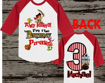 Jake and the Neverland Pirates Birthday Shirt - Jake Pirate Shirt