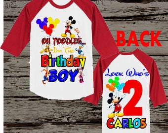 Mickey Mouse Clubhouse Birthday Shirt - Mickey Mouse Shirt Front and Back