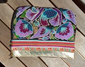 Bohemian Gypsy Clutch, Crossbody bag, Hmong Shoulder X body Bag/Clutch