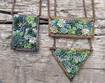 Succulents jewelry - flower succulents pendant - polymer clay succulent garden - summer jewelry - succulent necklace - price for one pendant