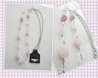 Rose Quartz Long Necklace