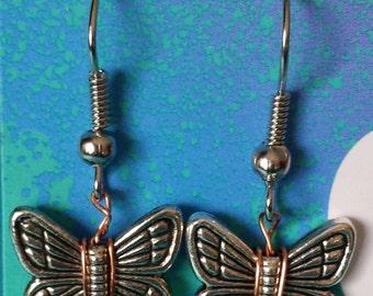 Beautiful Butterfly Bead Earrings