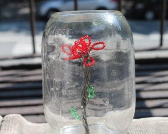 Flower Sculpture in Mason Jar