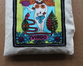 Virgo Aromatherapy Heat/Cool Pack! Vegan Organic Wheat Pack with Zodiac Star Sign.